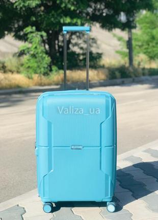 Качество! прочный средний пластиковый чемодан из полипропилена франция / валіза