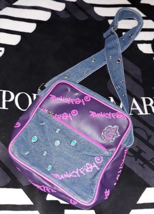 Сумка планшетка очень красивая сумка через плечо фирма punkyfish
