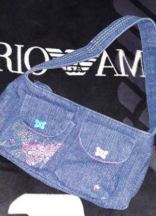 Сумка кошелек джинсовая детская