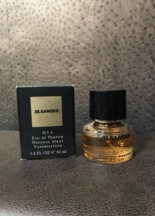 Jil sander 4 оригинал 30 мл no 4 парфюм туалетная вода духи