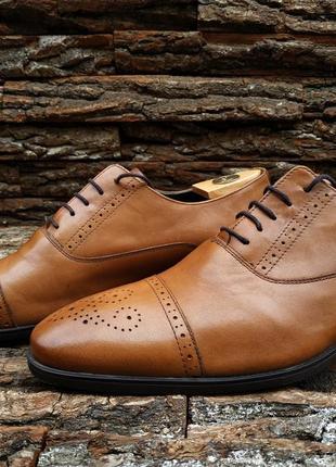 Полуброги coogan 46 размер туфли мужские натуральная кожа броги