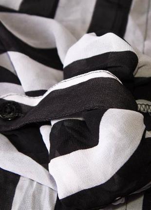 Блузка женская в полоску guess прозрачная (m)6 фото