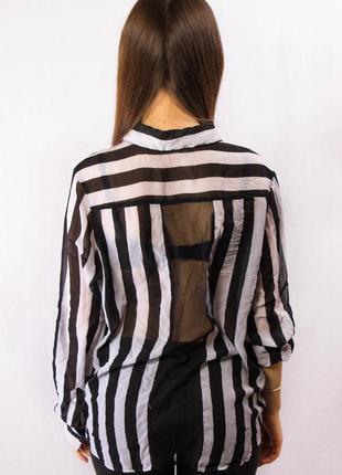 Блузка женская в полоску guess прозрачная (m)5 фото