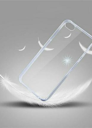 Прозрачный силиконовый чехол бампер на iphone xr айфон xr