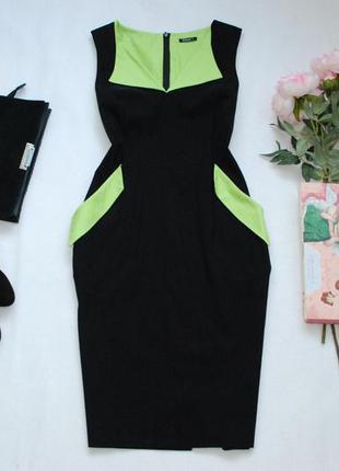 Мегаскидки, распродажа, большой выбор...стильное утягивающее миди платье с карманами