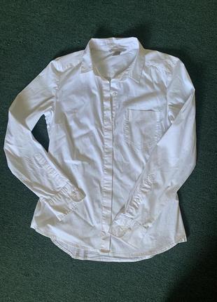 Новая белая классическая рубашка h&m