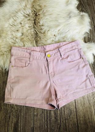 Шорты джинсовые розовые пудра