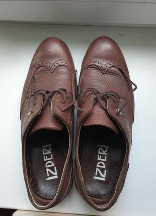 Новые мужские туфли,новые коричневые туфли мужские,43 размер