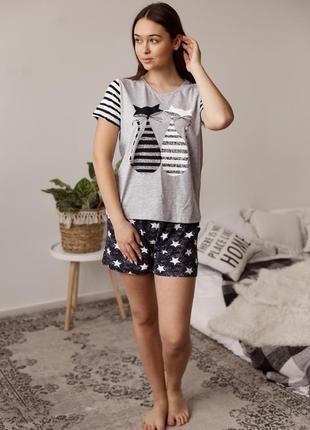 Пижама женская трикотажная с шортами