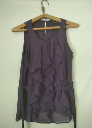 13 блуза шифоновая чернильная, размер 46. длина блузы 63 см.