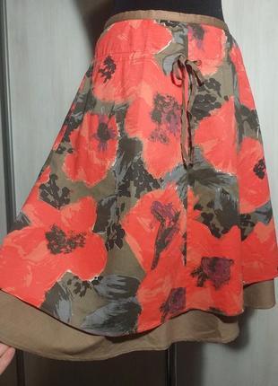 Шикарная юбочка в маки от dranella