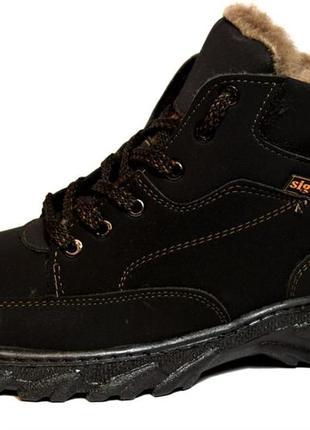 Мужские ботинки зимние эко-нубук (сб-05)
