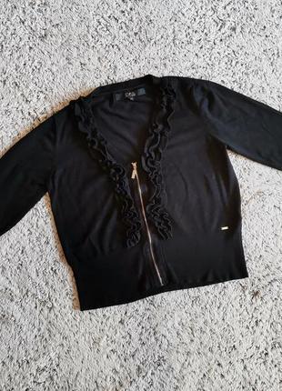Кофта черная, кофта нарядная, кофта с рюшами,  star by julien macdonald