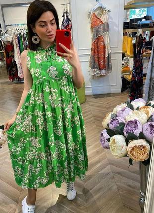 Нарядное летнее платье натуральное италия