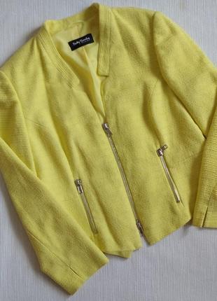 Піджак лимонного кольору, розмір 16