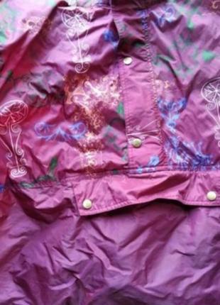 Дождевик-курточка ветровка с капюшоном