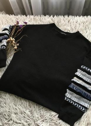 Sale! распродажа! очень стильный свитшот свитер кофта { тренд 2020} с красивыми рукавами