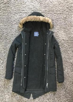 Зимова куртка, парка topman, розмір xs-s