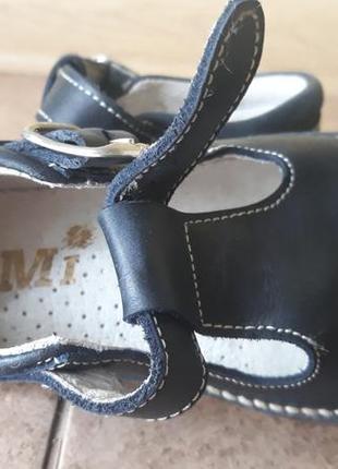 Нарядні шкіряні туфлі для хлопчика бренд bormi