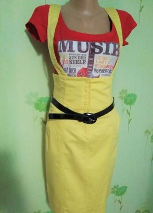 Шикарная юбка- сарафан-xs-s- sis line- идеал