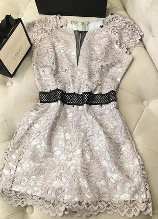 Нарядное летнее платье из кружева италия