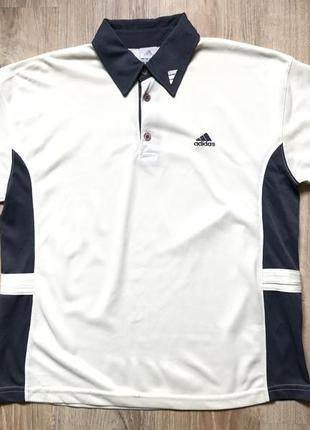 Мужская винтажная спортивная поло футболка adidas m