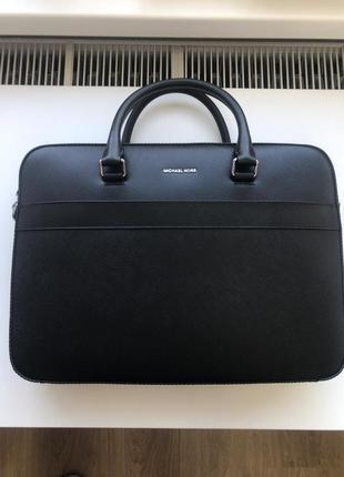 Кожаный портфель michael kors harrison front zip оригинал