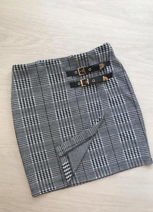 Женская мини юбка в клетку от selected