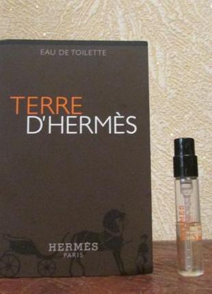 Туалетная вода terre d'hermes hermès остаток 1,4 мл.