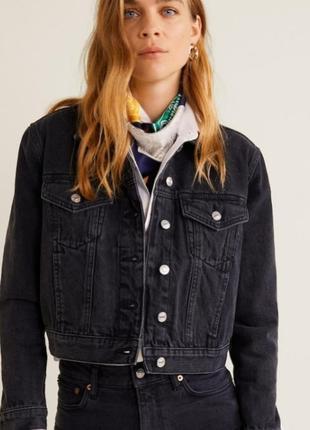 Джинсова куртка джинсовая куртка mango mng