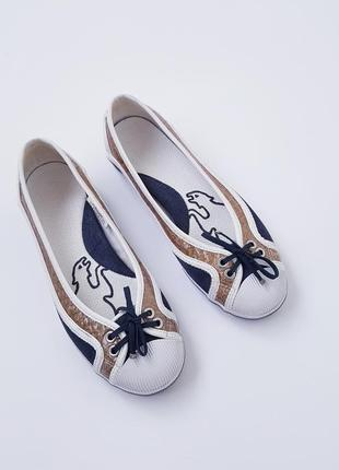 Puma rudolf dassler комбинированные кожаные балетки оригинал 39 размер