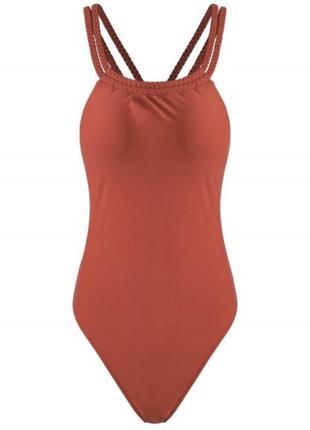 В наличии!суцільний купальник, коричневый купальник, оранжевий, кірпічний.