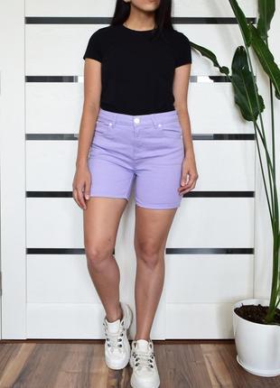 Лиловые джинсовые шорты boohoo