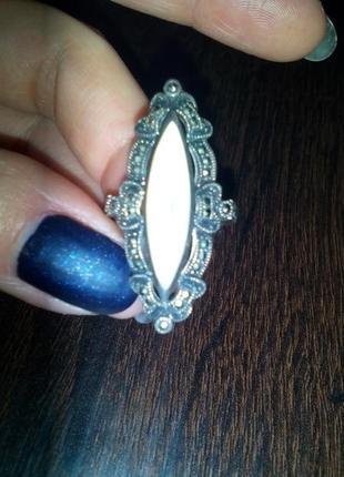 Перстень кольцо срібне 17-18 розмір