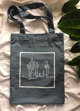 Стильный шопер, сумка, эко пакет handmade