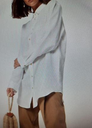Идеальная белая рубашка в мужском стиле большой размер