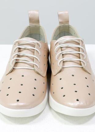 Легкие туфли из натуральной кожи  с перфорацией
