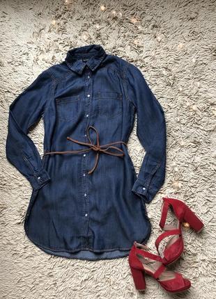 Джинсовая туника (рубашка, платье) esmara