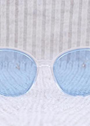 Голубые имиджевые очки без диоптрий , очки с прозрачной линзой ,тишейды, прозрачная оправа