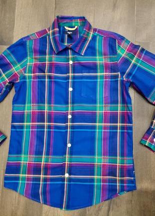Крутая хлопковая рубашка gap на 10-11 лет. новая!