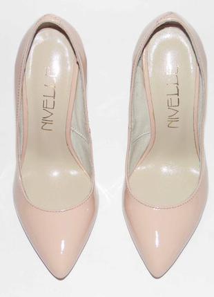 Лакированные туфли-лодочки, цвет пудра, тм nivelle