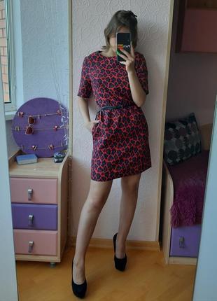 Стильное брендовое  платье в леопардовый принт