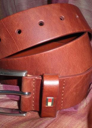 Классический ремень под джинсы, мягкая мясистая кожа tommy hilfiger оригинал 95см качество