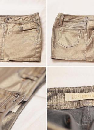 Юбка короткая, джинсовая