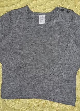 Стильный реглан, свитер h&m 80-86 см новый для девочки