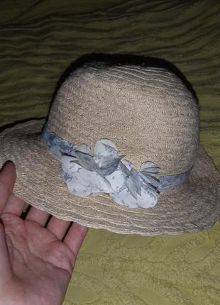 Шляпа пляжная  летняя h&m 68 см для девочки