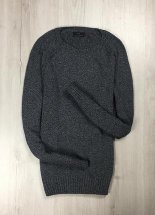 F7 свитер zara man серый зара