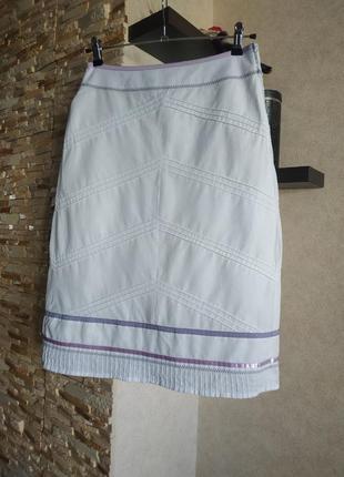 Натуральная миди юбка юбочка