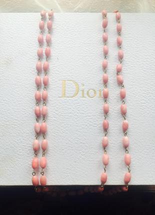Розовые бусы ожерелье