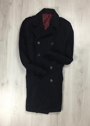 F9 пальто полушерстяное franch connection чёрное